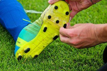 Sohle von Fußballschuhen